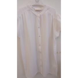 Camisa blanca de gasa y pantalón ancho marinero UBS2