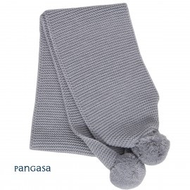 Bufanda con pompones lana PANGASA